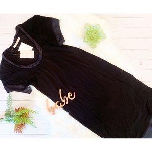 •nwt• RED Valentino black ribbon shift LBD dress